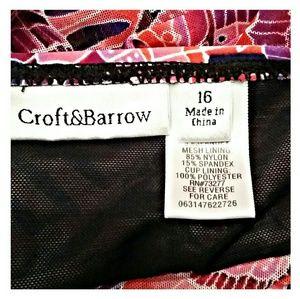croft & barrow Swim - *SALE* Croft  &  Barrow Swim Top Purple Pink 16W